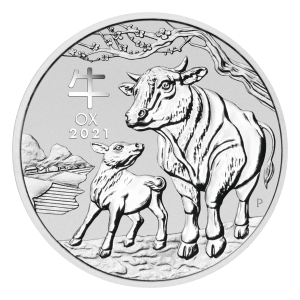 1 oz 2021 Perth Mint Lunar Year of the Ox Silver Coin
