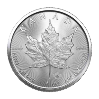 1 oz 2021 Canadian Maple Leaf Sølvmynt