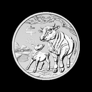 1/2 oz 2021 Perth Mint Lunar Year of the Ox Sølvmynt