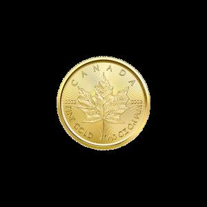 Pièce d'or Feuille d'érable canadienne 2021 de 1/10 once