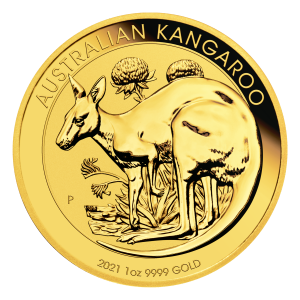 1 oz 2021 Australian Kangaroo Gullmynt