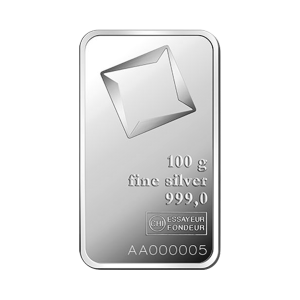 100 gram Valcambi Minted Silver Bar