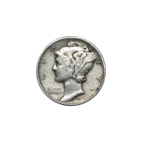 $100 Face Value Bag of U.S. Mercury Dime 90% Circulation Silver Coins