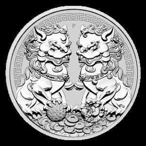 1 oz 2020 Australian Guardian Lions Double Pixiu Silver Coin
