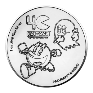 1 oz 2020 Pac-man 40th Anniversary Sølvmynt