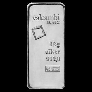1 kg | kilo Valcambi Cast Silver Bar
