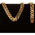 46.5 gram 22 kt Curb Style Gold Bracelet