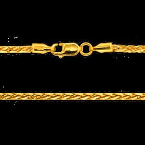 18.5 gram 22 kt Spiga Style Gold Necklace