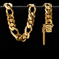 Bracelet en or 22 carats de style Figarucci de 58,5 grammes