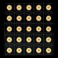 25 gram (25 x 1 g) 2021 MapleGram Sheet of Gold Coins
