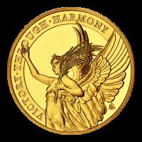 Moneda de oro | Virtudes de la Reina: Victoria | Santa Helena 2021 de 1 onza