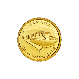 2021 Royal Canadian Mint 100th Anniversary of the Bluenose Gold Coin