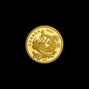 2021 Royal Canadian Mint Triumphant Dragon Gold Coin