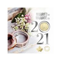 Set of 5 x 2021 Royal Canadian Mint Wedding Gift Coins