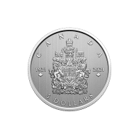 1/4 oz 2021 Royal Canadian Mint: 100th Anniversary of the Arms of Canada Silver Coin