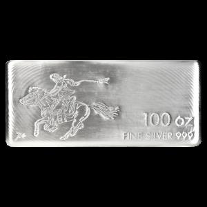 100 oz SilverTowne Pony Express Silver Bar
