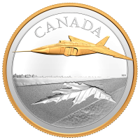 5 oz 2021 $50 Royal Canadian Mint The Avro Arrow Gold-Plated Silver Coin