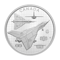 1 oz 2021 $20 Royal Canadian Mint The Avro Arrow Silver Coin