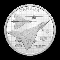 1 oz 2021 $20 Royal Canadian Mint The Avro Arrow Silver Coin
