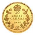 1 oz Royal Canadian Mint | Canada's Rarest Coins 1936 Dot 10 Cents Gold Coin