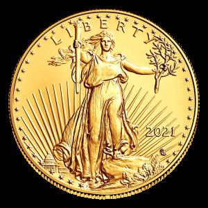 Moneda de oro Tipo 2 Águila Americana 2021 de 1 onza