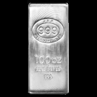 100 oz JBR Silver Bar