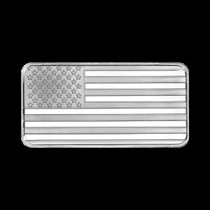 1 oz Silvertowne American Flag Silver Bar