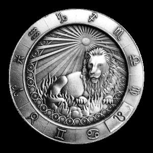 1 oz Monarch Precious Metals Zodiac Sign   Leo Silver Round