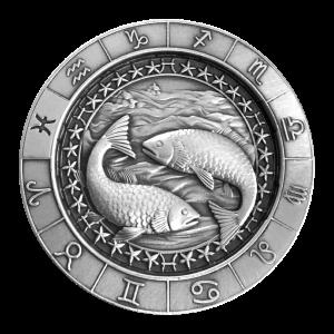 1 oz Monarch Precious Metals Zodiac Sign | Pisces Silver Round