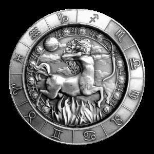 1 oz Monarch Precious Metals Zodiac Sign | Sagittarius Silver Round