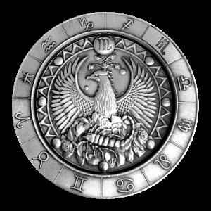 1 oz Monarch Precious Metals Zodiac Sign | Scorpio Silver Round
