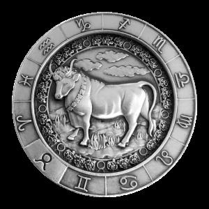 1 oz Monarch Precious Metals Zodiac Sign | Taurus Silver Round