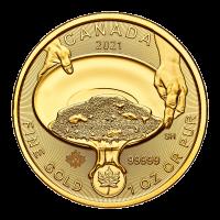 1 oz 2021 Royal Canadian Mint | 99999 Klondike Gold Rush Gold Coin