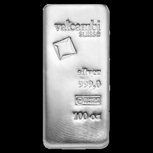 100 oz Valcambi Silver Bar
