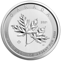 10 oz 2021 Royal Canadian Mint Magnificent Maple Leaves Silver Coin