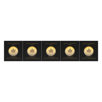 5 gram (5 x 1 g) 2021 MapleGram Sheet of Gold Coins