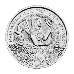 1 oz 2022 Great Britain Myths and Legends | Maid Marian Silver Coin