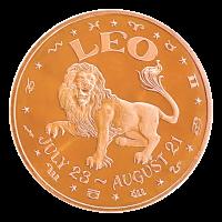 1 oz Leo Copper Round