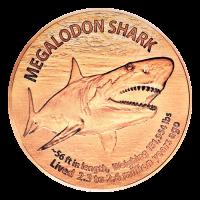 1 oz Megalodon Copper Round