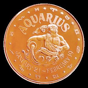 1 oz Aquarius Copper Round
