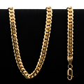 39.0 gram 22 kt Rounded Curb Style Gold Necklace
