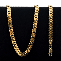 61.5 gram 22 kt Curb Style Gold Necklace